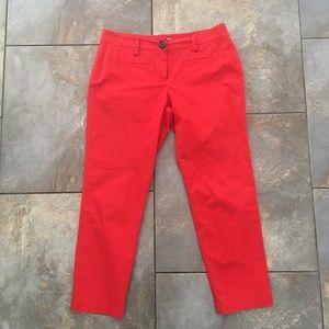 Cabi coral red capris  pants size 4, EUC